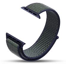 Ремешок Apple Watch 42/44mm Nylon Sport Loop blue/green, фото 2