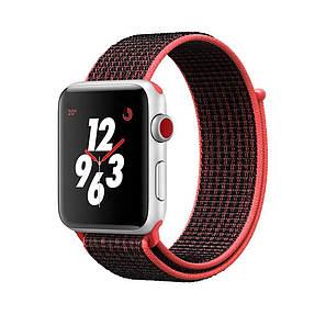 Ремешок Apple Watch 42/44mm Nylon Sport Loop red/black, фото 2