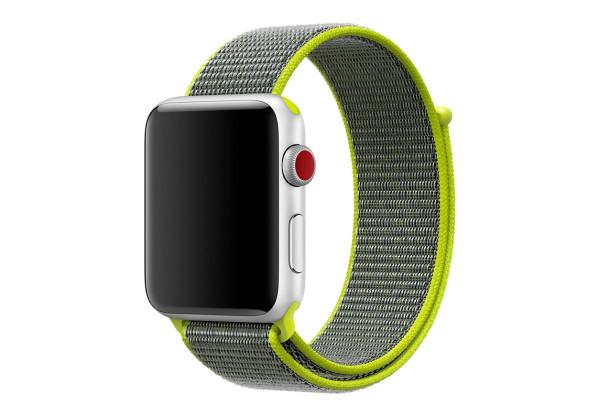 Ремешок Apple Watch 42/44mm Nylon Sport Loop green
