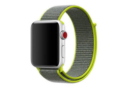 Ремешок Apple Watch 42/44mm Nylon Sport Loop green, фото 2