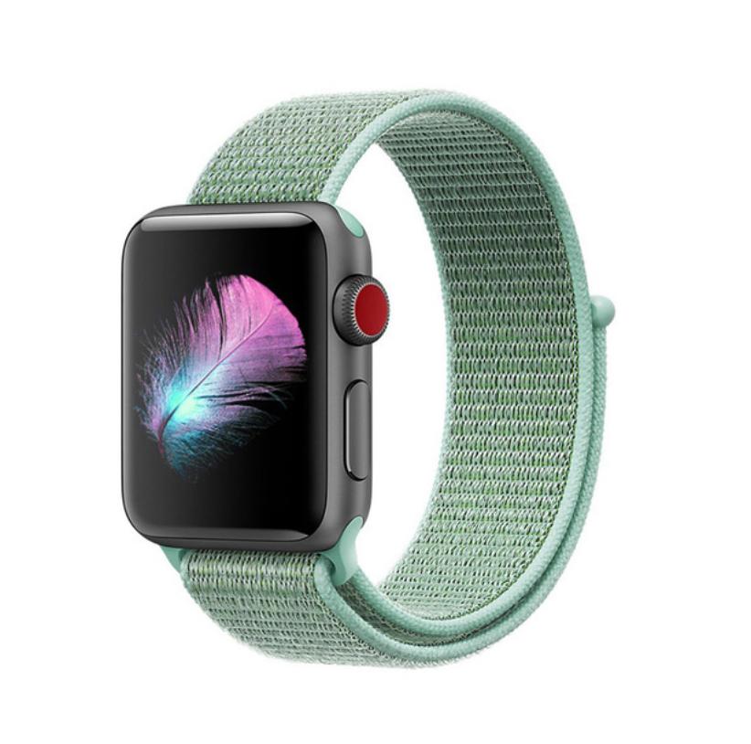Ремешок Apple Watch 42/44mm Nylon Sport Loop turquoise