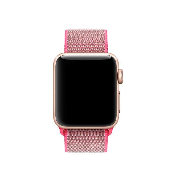 Ремешок Apple Watch 42/44mm Nylon Sport Loop pink