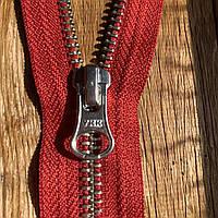 Молния / змейка металлическая разъемная 35 см YKK вишня / красный