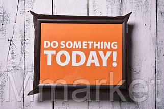 Поднос на подушке BST 210003 47*37 коричневый  Сделай сегодня