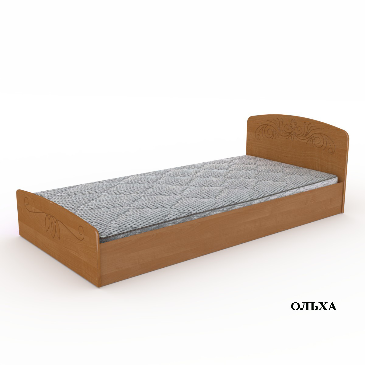 """Кровать """"Нежность""""-90 МДФ. Компанит"""