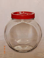 Банка для сыпучих продуктов с крышкой объёмом 1,2 л (6 штук в упаковке)