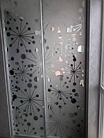 Встроенный шкаф-купе с пескоструем