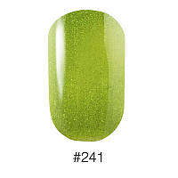 241 Лак Naomi 12ml зелёный с шиммерами отливающими золотым цветом