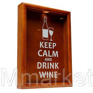 Пробочница орехКопилка для пробок BST Keep calm and drink wine большая