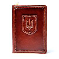 Ежедневник в кожаном переплете недатированный Герб Украины