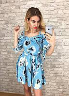 Платье женское летнее с поясом  р, 42 44 46 48