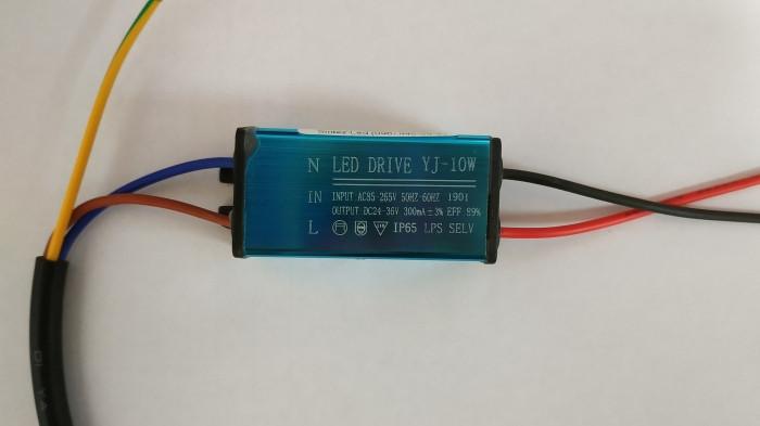 Драйвер для світлодіодного прожектора 9-10W 300mA IP65 Код. 59546
