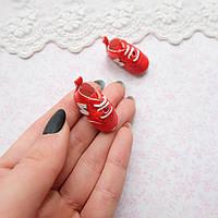 Обувь для кукол Кроссовки Мини 30*12 мм КРАСНЫЕ, фото 1