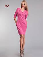 Платье бант больших размеров Розовый, фото 1