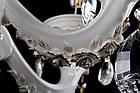 Керамическая люстра-свеча на 6 лампочек СветМира VL-1115/6 (белая с золотом), фото 3
