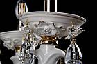 Керамическая люстра-свеча на 6 лампочек СветМира VL-1115/6 (белая с золотом), фото 5