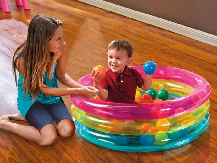Надувной бассейн Intex 48674 с шариками 86 х 25 см