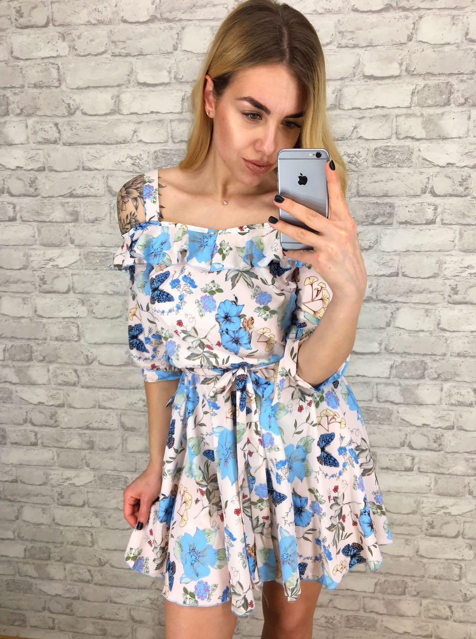 Платье женское с летним рисунком  р, 42 44 46 48