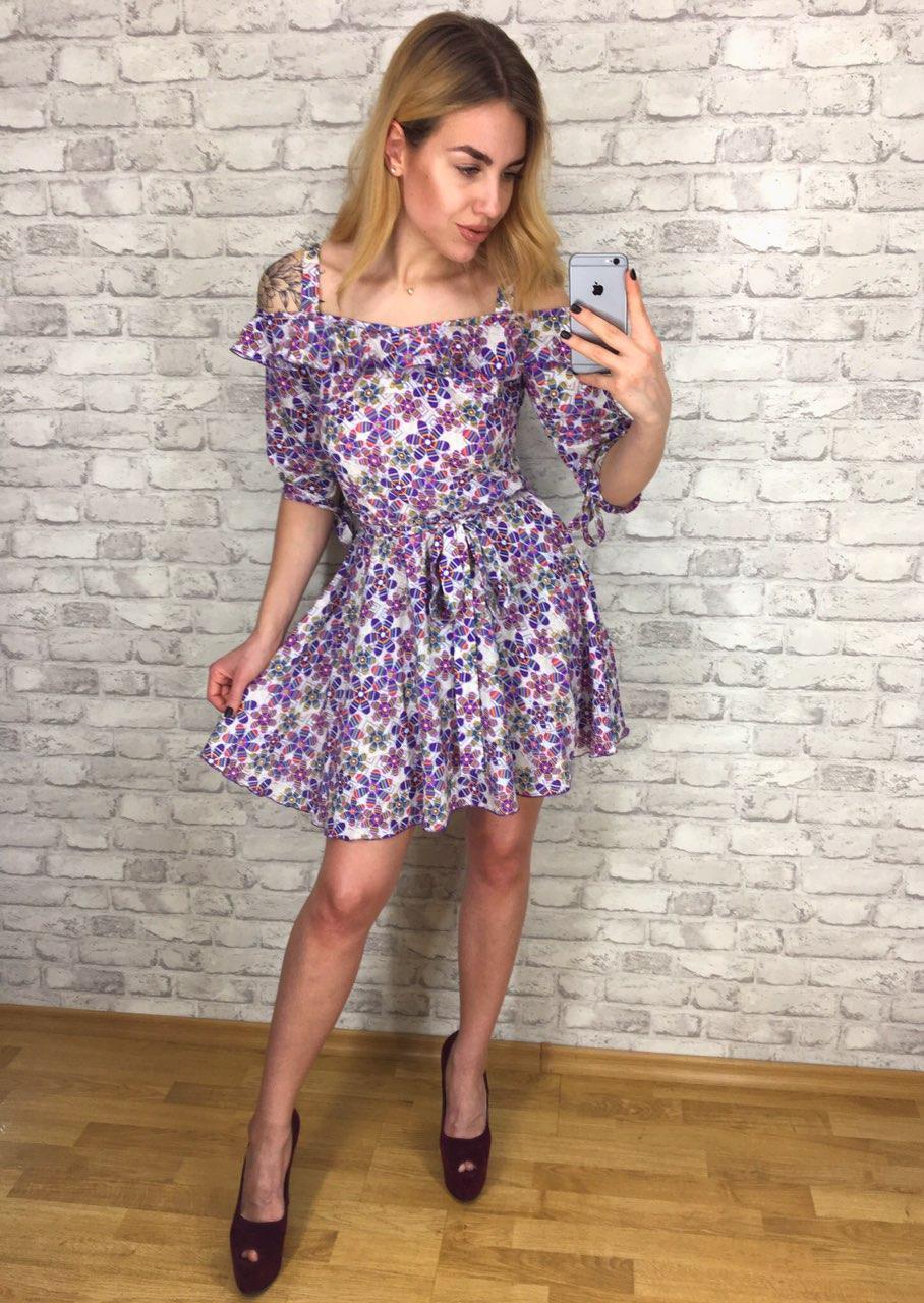48821bfc1f9 Платье женское летнее с геометрическими цветами р