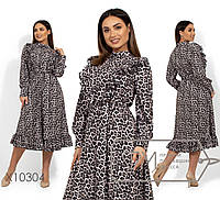 Модное леопардовое платье в расцветках 336 (0305)