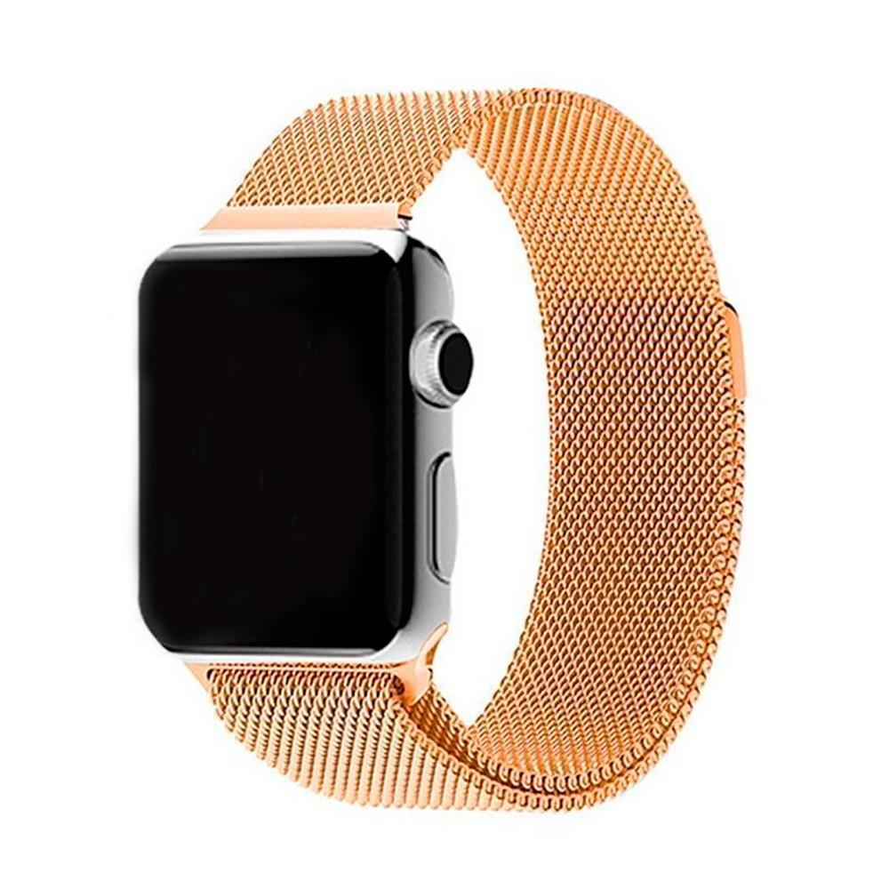 Ремешок Apple Watch 42/44mm Milanese Loop gold