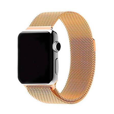 Ремешок Apple Watch 42/44mm Milanese Loop gold, фото 2
