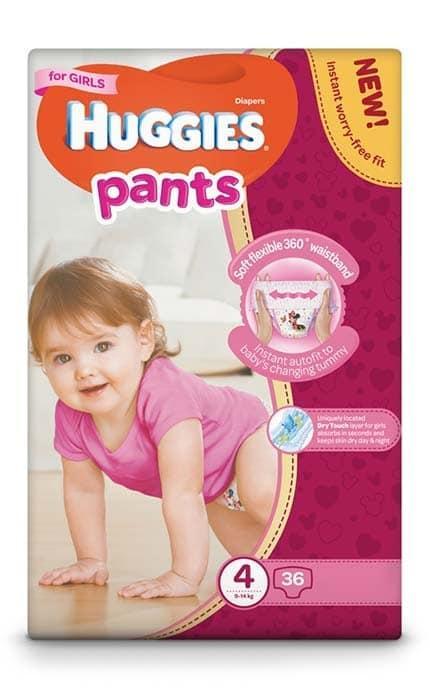 Трусики Huggies Pants для девочек 4 (9-14 кг), Mega Pack 36 ш