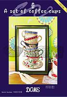 DOME Набор для вышивки крестом Набор кофейных чашек 100108