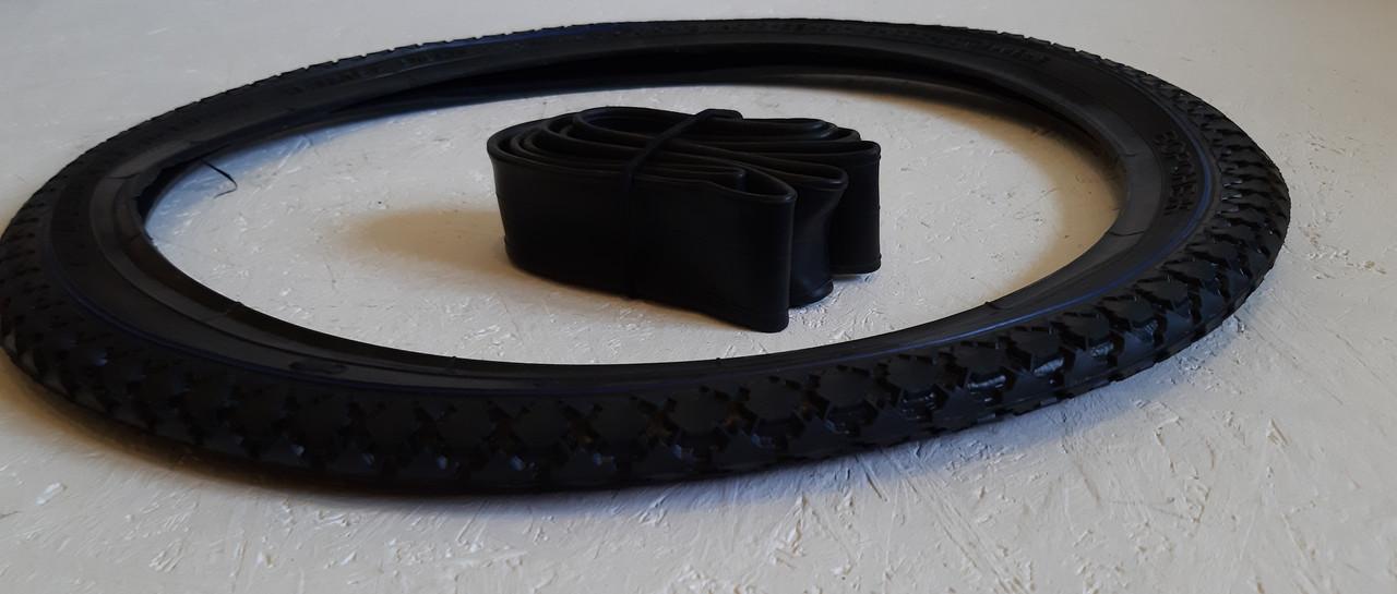 Покрышка на велосипед 20 дюймов с Камерой Рисунок Ромб. Вело резина 20*1,75 (40-406)