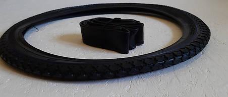 Покрышка на велосипед 20 дюймов с Камерой Рисунок Ромб. Вело резина 20*1,75 (40-406), фото 2