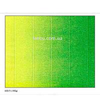 Креп бумага с переходом желто-зеленая №600/5,производство Италия, фото 1