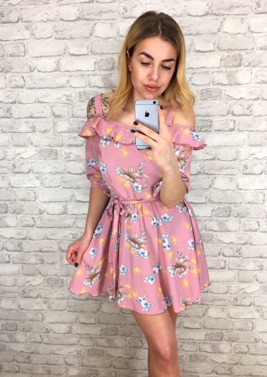 Платье женское летнее цвет пудра р, 42 44 46 48