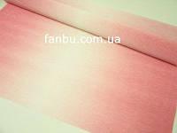 Креп бумага с переходом бледно розовая №600/4