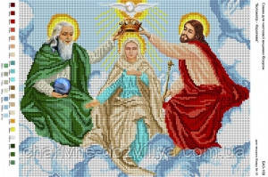 Схема для вышивки бисером икона Богоматерь - Королева, фото 2