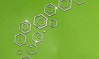 Набор акриловых декоративных контуров сот 24 элемента, серебро