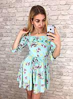 Платье женское летнее цвет мята р, 42 44 46 48