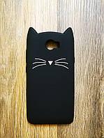 Объемный 3d силиконовый чехол для Huawei Y5ii Y5 ll Усатый кот черный