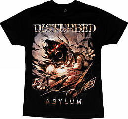"""Черная футболка с группой Disturbed """"Asylum"""", Размер S"""