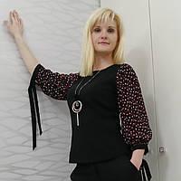 Блуза рукав горох