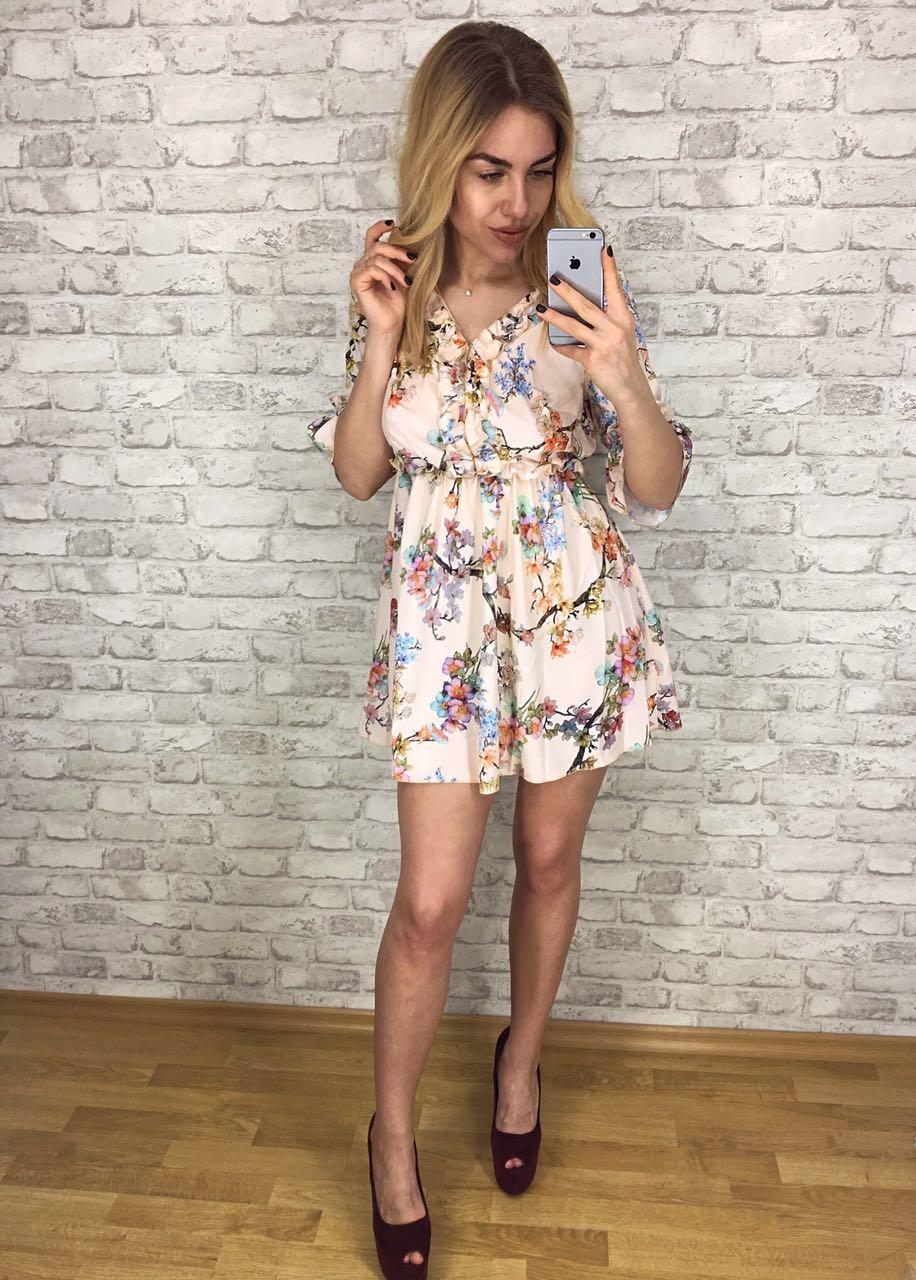 95d487e5836 Платье женское летнее с V-образным вырезом р