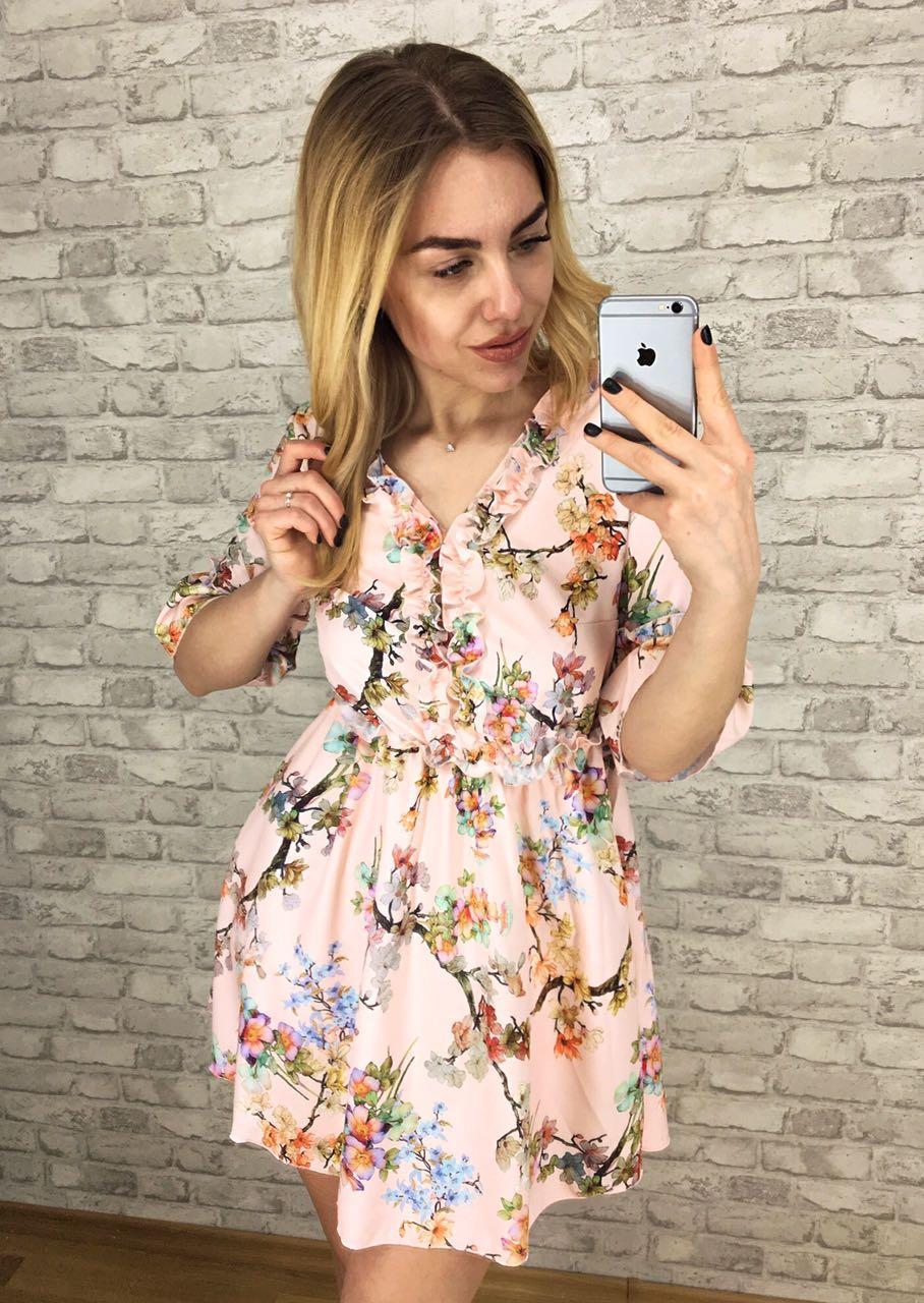 fc155e278a5 Платье женское летнее с ажурным декольте р