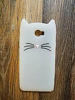 Объемный 3d силиконовый чехол для Huawei Y5ii Y5 ll Усатый кот белый