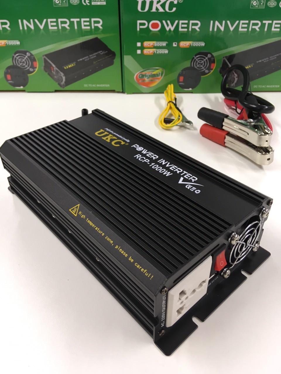 Преобразователь инвертор UKC Power Invertrer RCP-1000W 12v-220v