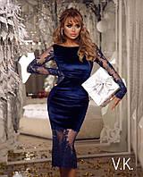 Элегантное платье футляр из ткани бархат РАЗНЫЕ ЦВЕТА