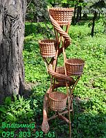 "Подставка для цветов ""Башня из лозы на 5 чаш"" , фото 1"