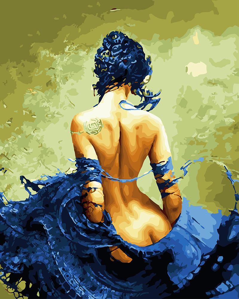 Картина по номерам Девушка с татуировкой, 40x50 см., Rainbow art