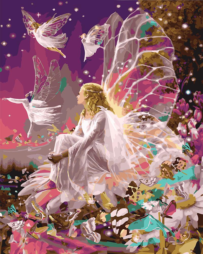 Картина по номерам Сказочная фея, 40x50 см., Rainbow art