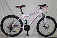Спортивный Алюминиевый велосипед Crosser Trinity 26 дюймов. Белый., фото 1