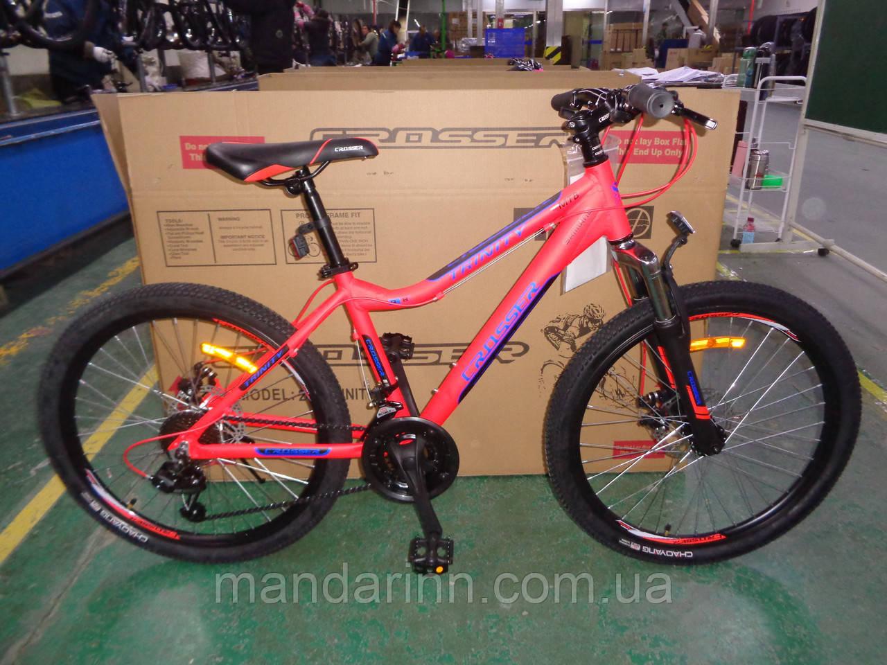 Спортивный Алюминиевый велосипед Crosser Trinity 26 дюймов. Красный.