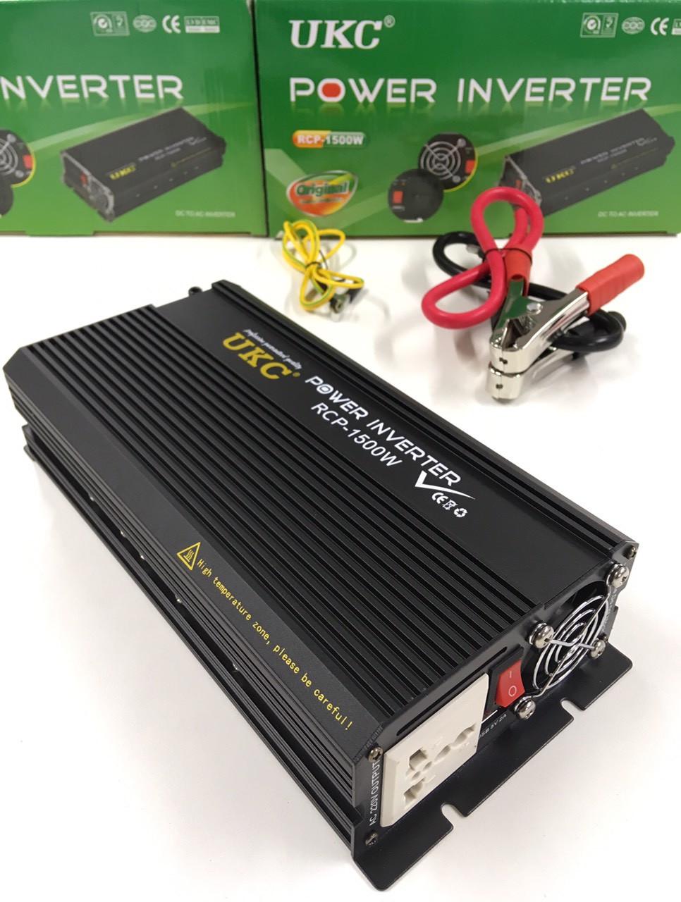 Преобразователь инвертор UKC Power Invertrer RCP-1500W 12v-220v
